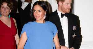 Meghan Markle Rocks Her First Evening Gown of Royal Tour in Fiji — a Light Blue Caped Stunner! [Video]