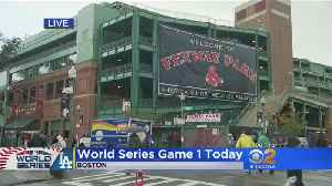 Dodger Fans Make The Trip For The World Series At Fenway Park [Video]