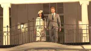 Right Now: Meghan Markle and Prince Harry Recreate Balcony Moment by Queen Elizabeth and Prince Philip in Fiji [Video]