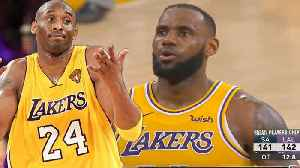 """8508178b7 News video  Lakers Fans Rip Lebron James For Not Being Clutch Like Kobe! """""""