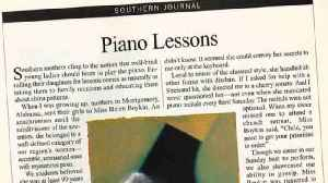 Stories Of The South: Piano Lessons [Video]