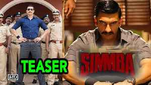 SIMMBA TEASER | Baap of ACTION..Ranveer with Rohit Shetty [Video]