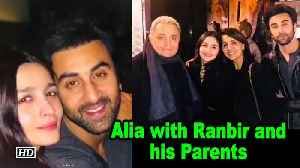 PICTURE PERFECT – Alia with Ranbir and his Parents [Video]