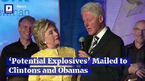 'Potential Explosives' Mailed to Clintons and Obamas [Video]