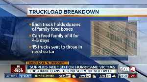 What items local food bank needs to donate to hurricane victims [Video]