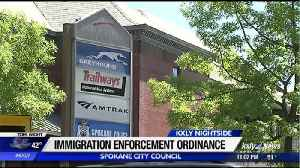 Spokane City Council approves odrinance to limit CBP screenings at city's intermodal facility [Video]