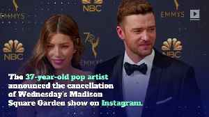 Justin Timberlake Cancels NY Shows Due to 'Severely Bruised' Vocal Chords [Video]