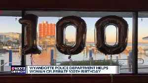 Wyandotte police officers throw birthday party for 100-year-old woman [Video]