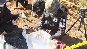 South Korea exhumes remains of soldiers in DMZ [Video]
