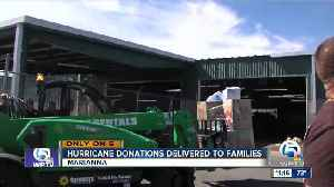 Hurricane donations delivered to families [Video]