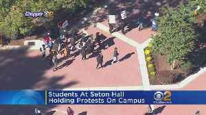 Students At Seton Hall Hold Protests On Campus [Video]