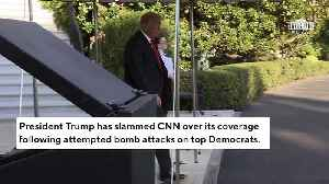 In 3 A.M. Tweet, Trump Lashes Out At 'Lowly Rated' CNN Over 'Blaming' Him For Attempted Bomb Attacks [Video]