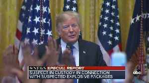 President Trump addresses the arrest of suspect in connection with suspected explosive packages | SPECIAL REPORT [Video]