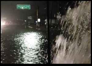 Road Flooded in Atlantic Beach as Storm Hits [Video]