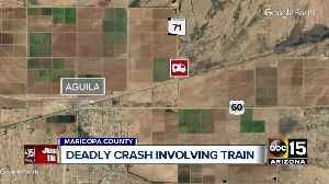 One person dead after car struck by train near Aguila [Video]