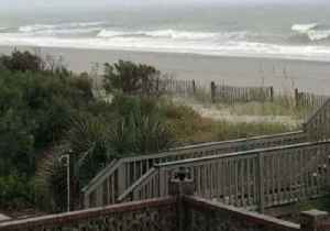 Rough Waves Spotted at Surfside Beach Amid Coastal Storm [Video]