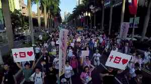 Thousands march for marriage equality in Taiwan amid referendum debate [Video]