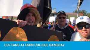 UCF fans at ESPN College Gameday [Video]