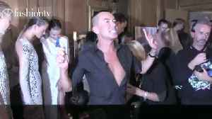Julien Macdonald Backstage Spring 2014 at London Fashion Week | FashionTV [Video]