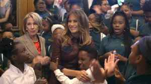 First Lady Melania Trump Invites Young Students To A White House Movie [Video]