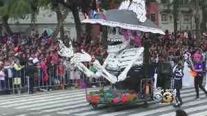Tens Of Thousands Celebrate Day Of The Dead In Mexico City [Video]