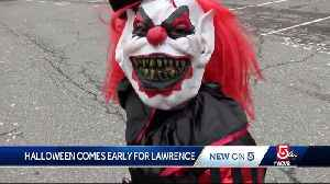 Non-traditional Halloween comes early for kids in Lawrence [Video]