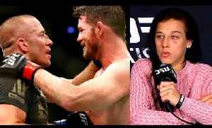 MMA Community reacts to Incredible GSP vs Michael Bisping,Joanna-Don't compare me to Ronda,UFC 217 R [Video]