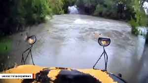 Police Release Dashcam Footage Of School Bus Being Carried Away By Flood Waters [Video]