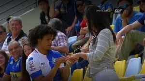 Watch: Footballer celebrates goal by proposing to girlfriend [Video]