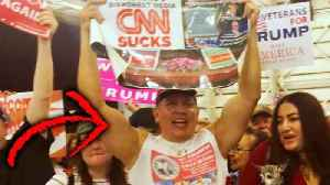 Suspected Mail Bomber Seen Holding 'CNN Sucks' Poster at Trump Rally [Video]