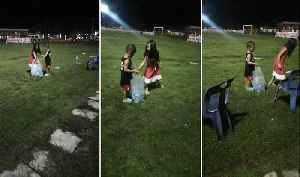 Kind-Hearted Kids Collect Plastic Bottles After Football Game [Video]