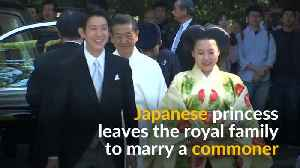 Japanese princess gives up royal status to marry commoner [Video]