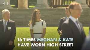 All the times Meghan & Kate have worn high street [Video]