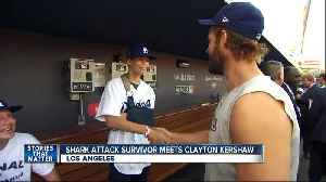 Shark attack survivor meets Dodgers star [Video]