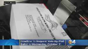 Wednesday Is Final Day To Request Vote-By-Mail Ballot [Video]