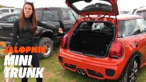 How Much Fits in the Trunk of a Mini Cooper? | Jalopnik [Video]