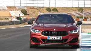 The new BMW 8 Series Coupe driving on the Racetrack [Video]
