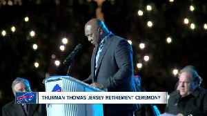 Bills retire Thurman Thomas' number 34 during MNF [Video]