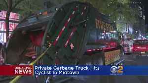 Breaking: Cyclist Struck By Private Garbage Truck [Video]