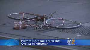 Private Garbage Truck Hits Cyclist In Midtown [Video]