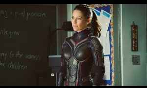 First look: Evangeline Lilly In Wasp Costume [Video]