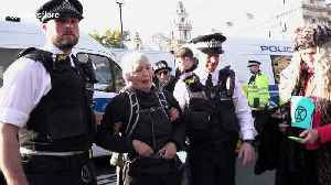 Fifteen arrested at environment protest in London [Video]