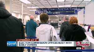 Early voters filing into election offices in Douglas, Sarpy counties [Video]