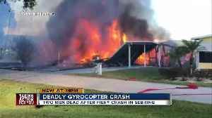 2 dead, 1 injured after gyrocopter crashes into mobile home park, setting homes on fire in Sebring [Video]