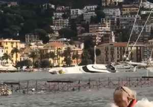 Luxury Boats Damaged in Italy's Rapallo Port After Storm [Video]