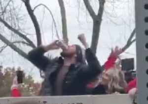 Red Sox Pitcher Chris Sale Chugs Beer Thrown From Crowd at World Series Victory Parade [Video]