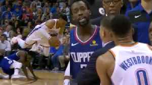 Police Rush In To Separate Fight Between Russell Westbrook & Patrick Beverley After Cheap Shot [Video]