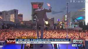 Jimmy Kimmel, Brandon Flowers to headline Las Vegas rally Friday for Rosen [Video]