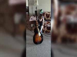 He Can't Lift the Guitar, but that Won't Stop him from Playing [Video]