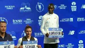 Kenyan runners Geoffrey Kamworor and Mary Keitany are looking to repeat NYC marathon wins [Video]